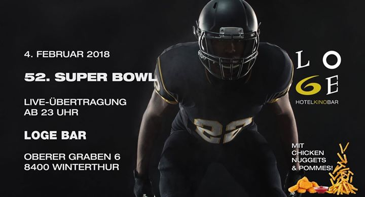 Super Bowl 2018 Live-Übertragung in der LOGE!
